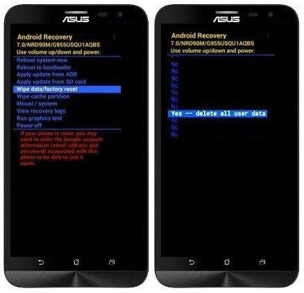 Hard Reset Asus Zenfone 2