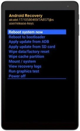 Como formatar tablet Alcatel 1T 7