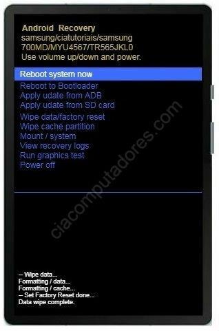 Hard Reset Samsung Galaxy Tab S6