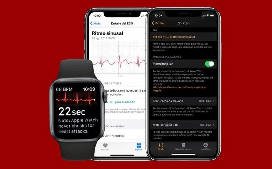 Aplicativo e relógio Apple