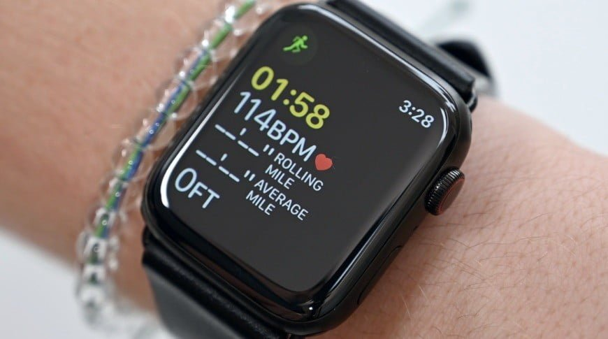 Apple watch no pulso