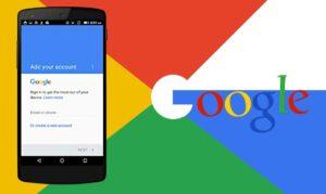 Como ignorar a conta do Google no celular